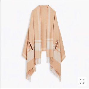 Jcrew Heather camel cape / scarf